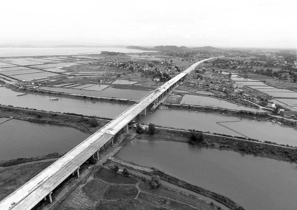 国道347(普济圩至枞阳段)全线贯通