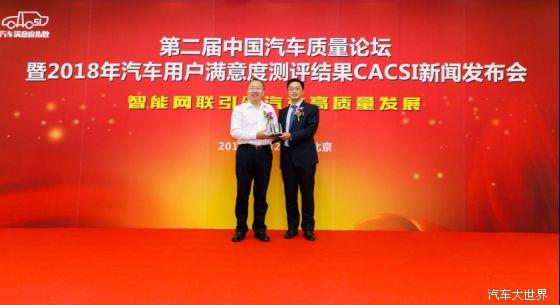 中国质量协会全国汽车用户满意度测评(cacsi)由中国质量协会用户委员