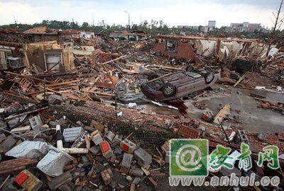 美国南部龙卷风_美国中南部遭遇龙卷风袭击 至少200人遇难