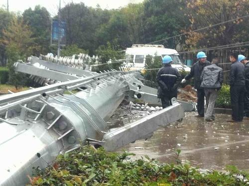 蚌埠一110千伏电塔倒塌