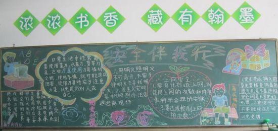 小学安全教育板报内容-小学安全板报图片大全 黑板报安全教育内容