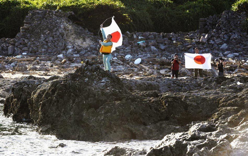 日本右翼分子非法登岛