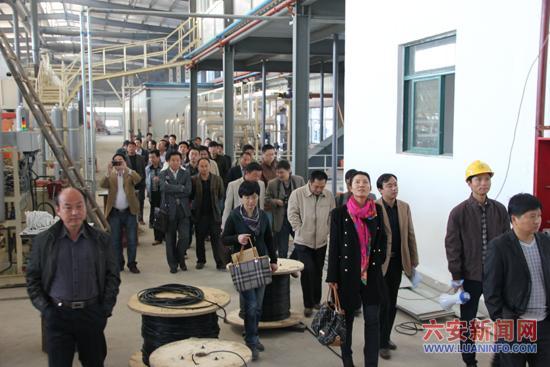安青网 资讯中心 社会 >正文   与会人员在叶集丽人木业参观 本网讯