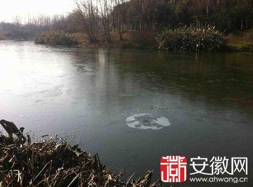 合肥南淝河罕见大面积结冰